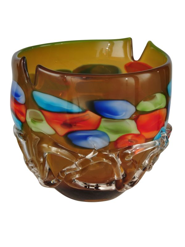 "Dale Tiffany AV13097 Tahoe Open Bowl 10"" Bowl Multi-Colored Glass Home"