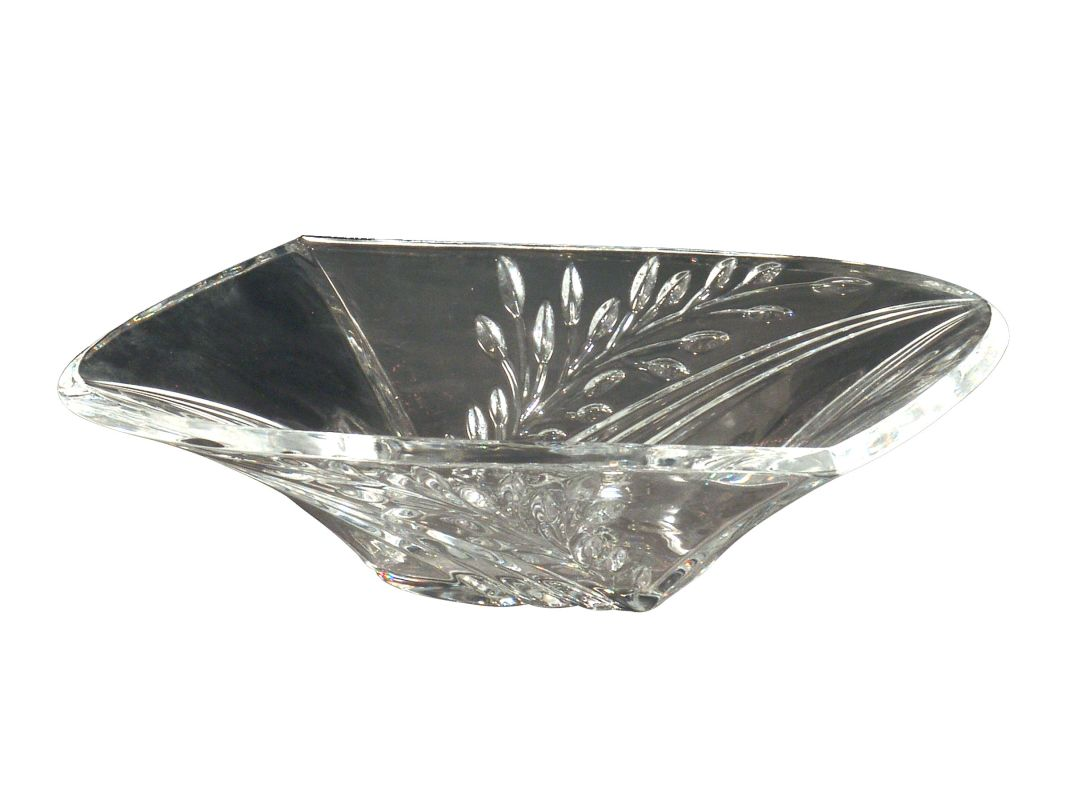 Dale Tiffany GA80035 Clear Crystal Leaf Bowl Crystal Home Decor