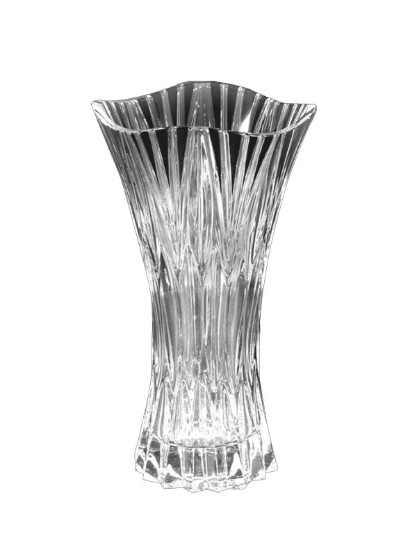 Dale Tiffany GA80039 Clear Crystal Black Ridge Vase Crystal Home Decor