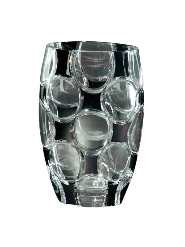 Dale Tiffany GA80041 Rocky Black Crystal Vase Crystal / Black Home