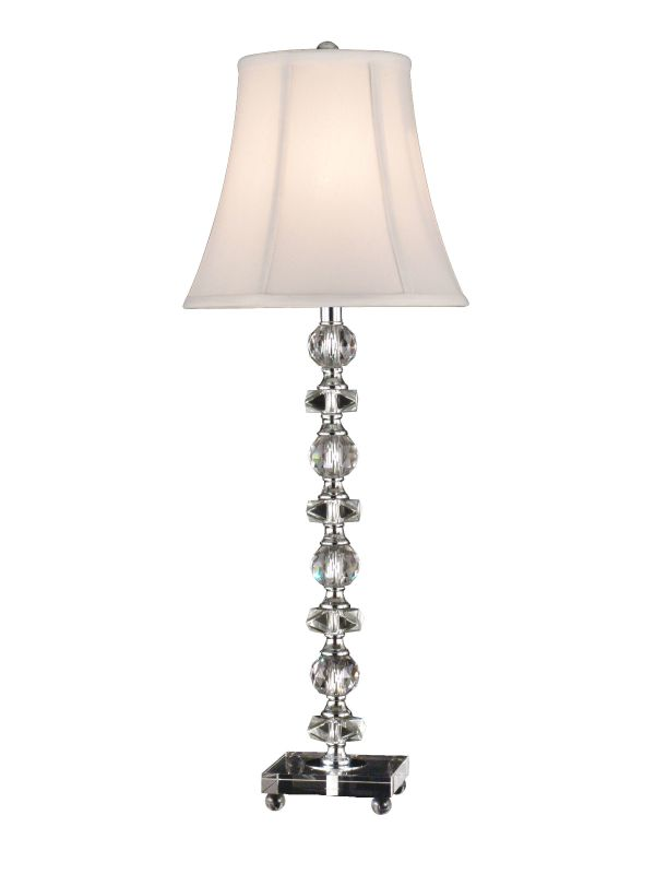 Dale Tiffany GB11065 Simon Buffet Table Lamp with 1 Light Chrome Lamps
