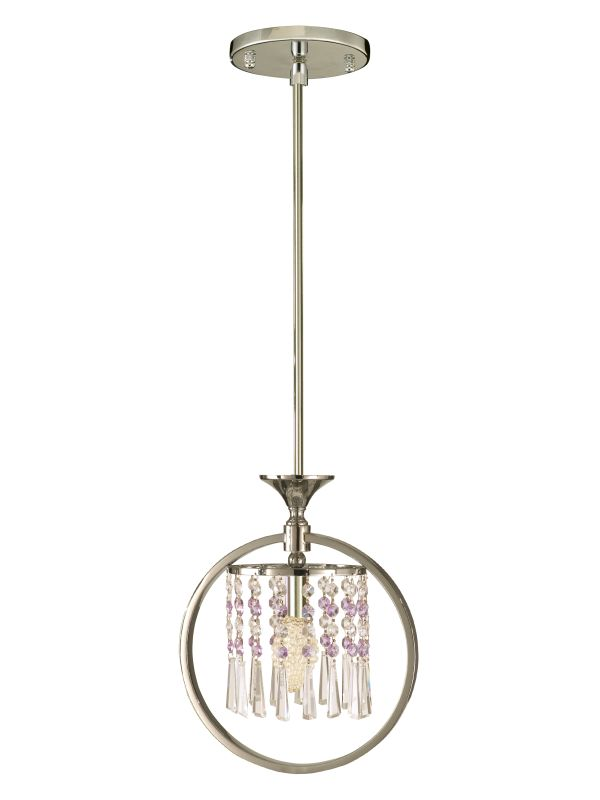 "Dale Tiffany GH80345 12"" x 11"" Cardigan Pendant Polished Chrome Indoor"