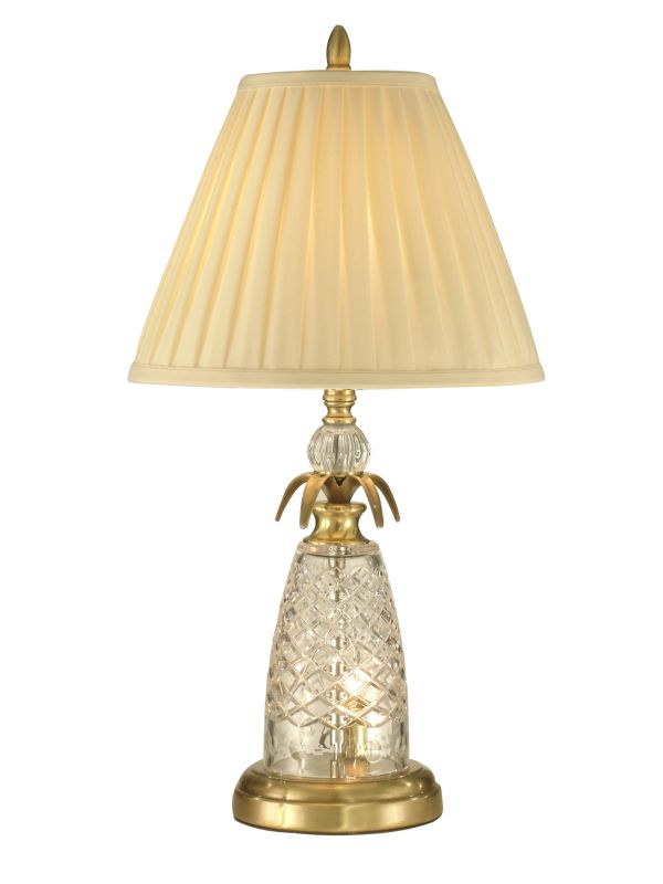 Dale Tiffany GT10360 2 Light Crystal Table Lamp with Fabric Shade