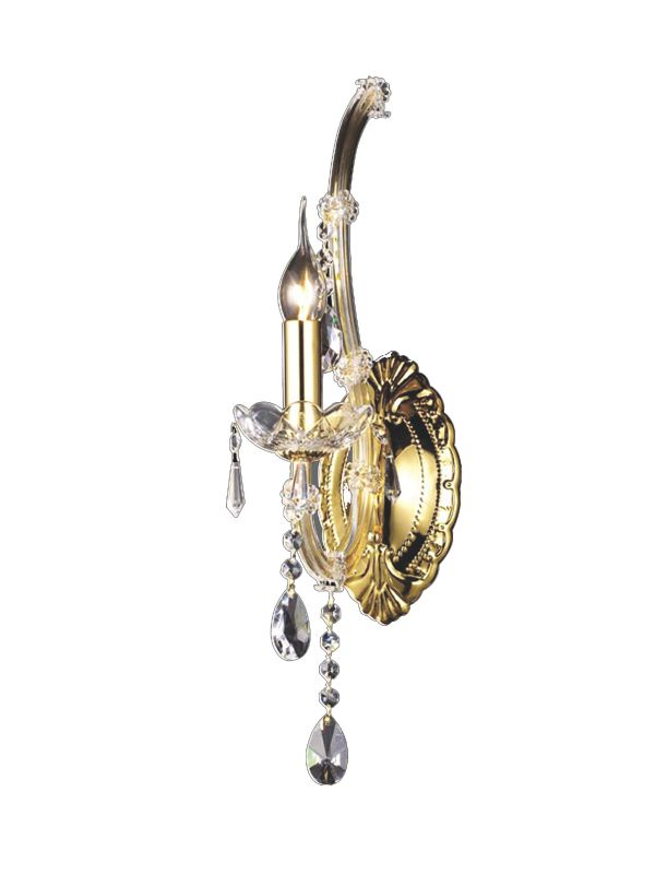 Dale Tiffany GW10299 1 Light Crystal Healy Wall Sconce Gold Indoor