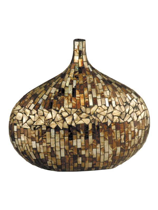 Dale Tiffany PG10152 Amber Shell Vase Bronze Home Decor Vases