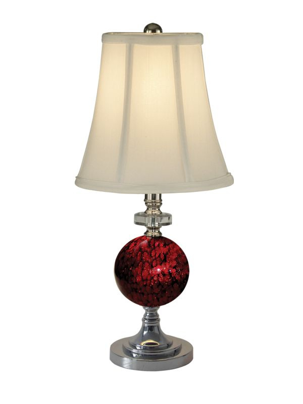 Dale Tiffany PG10182 1 Light Alton Table Lamp with Fabric Shade