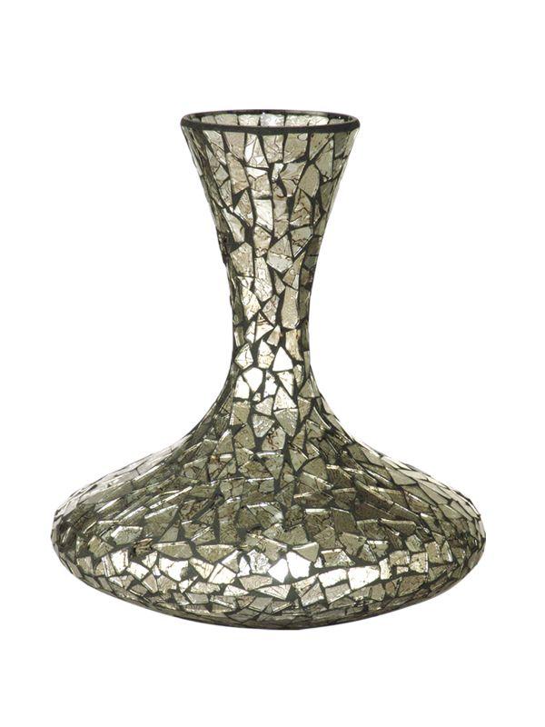 Dale Tiffany PG10262 Large Silver Vase Silver Home Decor Vases