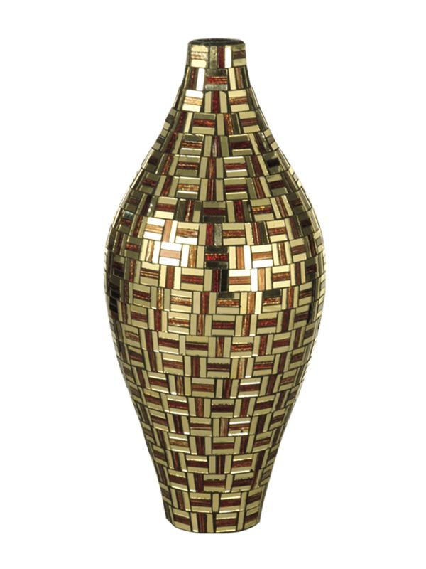 Dale Tiffany PG10276 Tall Ravenna Vase Mirror / Red Home Decor Vases
