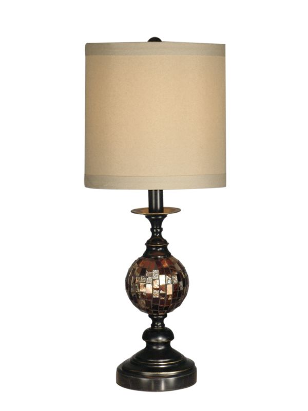 Dale Tiffany PG10352 Mosaic Ball Art Glass Table Lamp with 1 Light