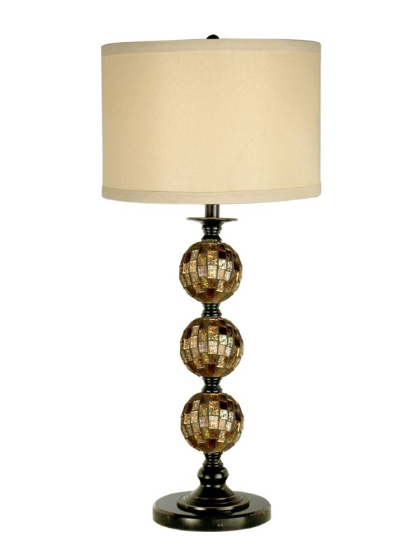 Dale Tiffany PG10353 Mosaic 3 Ball Art Glass Table Lamp with 1 Light