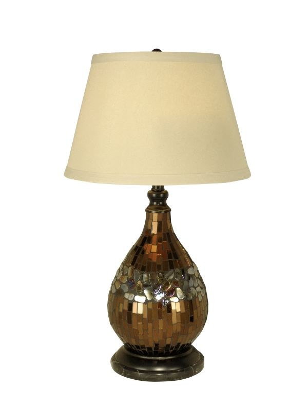 Dale Tiffany PG10354 Mosaic Glass Dome Table Lamp with 1 Light Dark