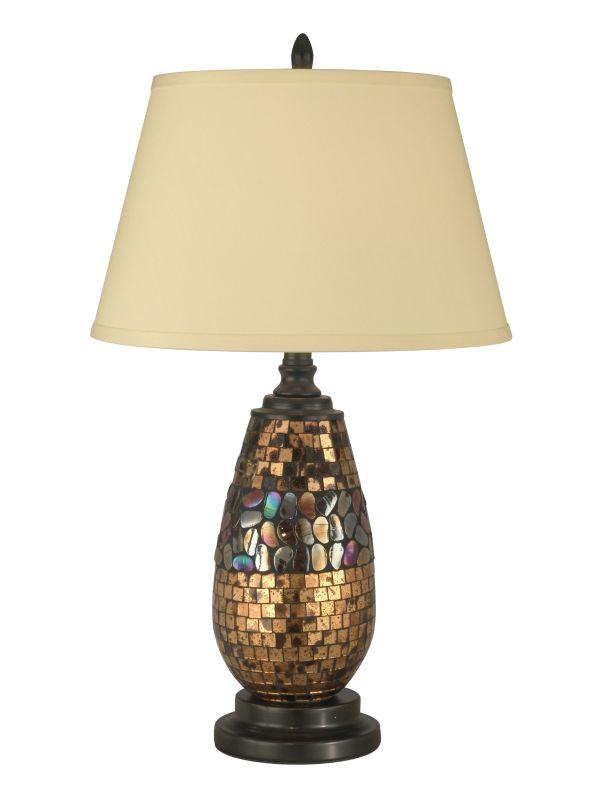 Dale Tiffany PG10362 Antique Gold Mosaic Table Lamp with 1 Light Dark