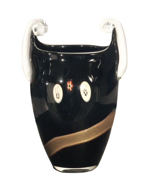 Dale Tiffany PG80155 Retro Santiago Vase Black Home Decor Vases