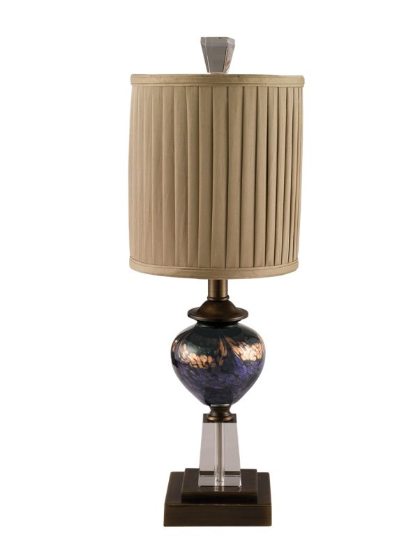 "Dale Tiffany PG80519 8"" x 23.5"" Mardi Gras Table Lamp Antique Bronze"