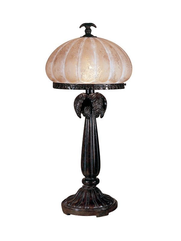 Dale Tiffany PT100522 Musetta Amber Table Lamp with 1 Light Florida