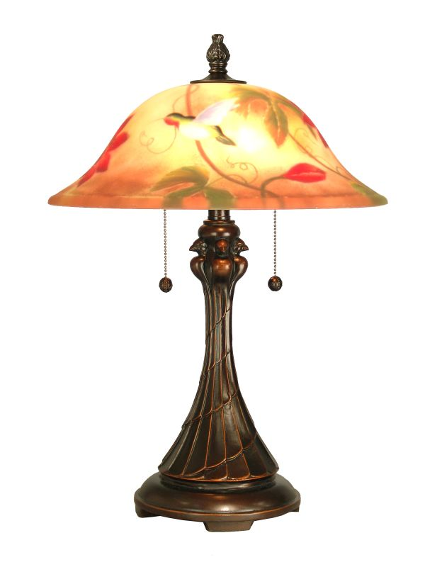"Dale Tiffany RT60278 22.5"" Tropical Table Lamp with 2 Lights Antique"