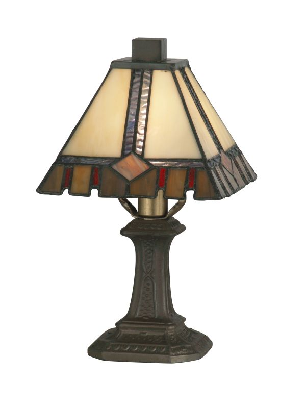 "Dale Tiffany TA100351 6"" x 11"" Castle Cut Mini Table Lamp from the"