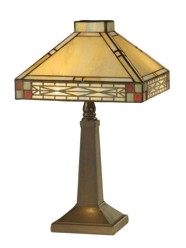 Dale Tiffany TA10490 2 Light Tiffany Accent Lamp with Art Glass Shade