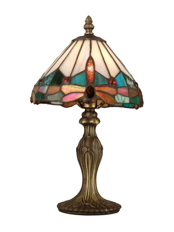 dale tiffany ta10606 antique brass tiffany jewel dragonfly accent lamp. Black Bedroom Furniture Sets. Home Design Ideas