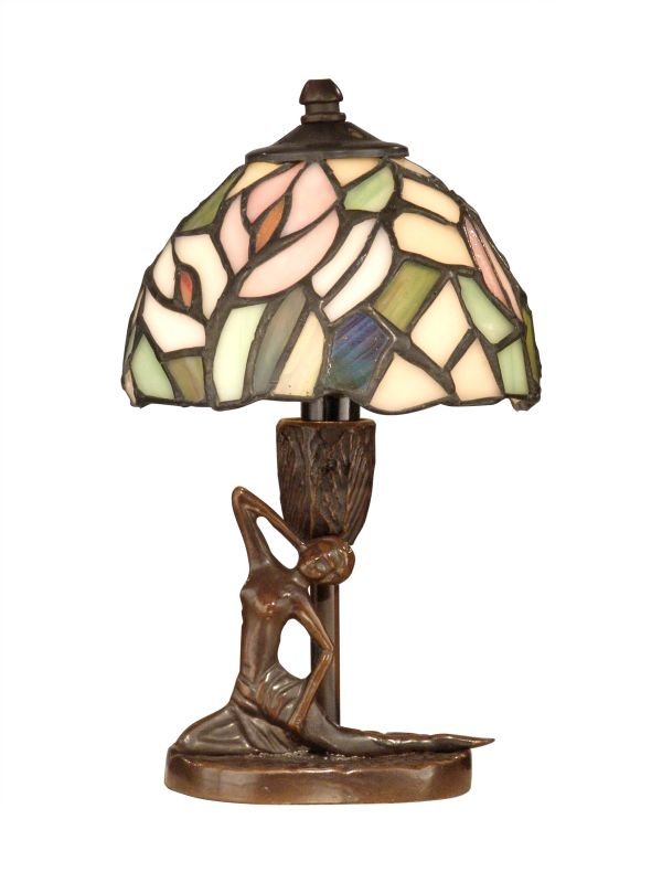 Dale Tiffany TA10607 Tiffany Lady Accent Lamp with 1 Light Antique