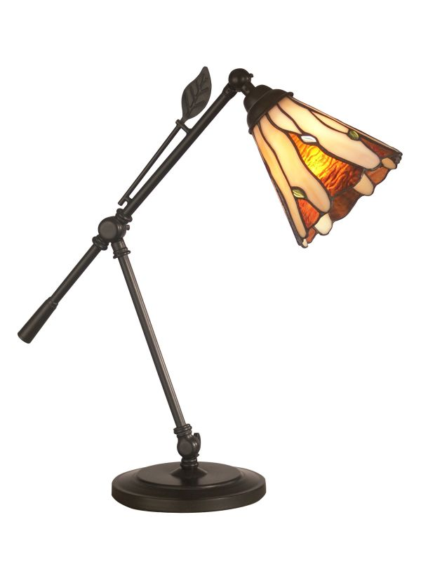 Dale Tiffany TA11158 Tiffany Leaf Desk Lamp with 1 Light Dark Antique