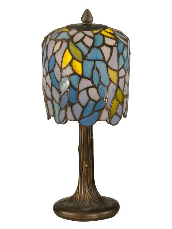 Dale Tiffany TA11200 Wisteria Tiffany Mini Lamp with 1 Light Dark