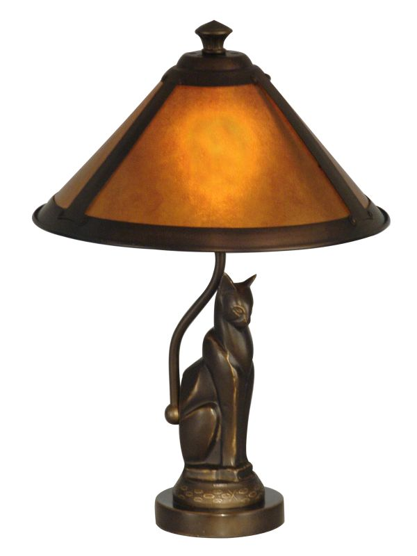 Dale Tiffany TA90197 1 Light Ginger Mica Accent Lamp with Mica Shade