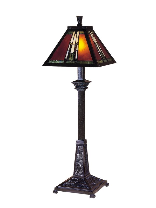 "Dale Tiffany TB100715 30"" Amber Monarch Buffet Lamp with Candelabra"