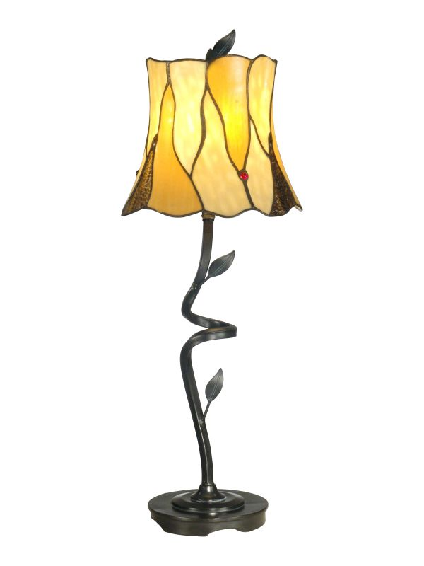 Dale Tiffany TB11030 Twisted Leaf Tiffany Buffet Lamp with 1 Light