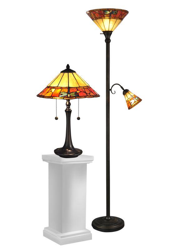 Dale Tiffany TC12178 Genoa 4 Light Lamp Set Antique Brass Lamps Table Sale $397.99 ITEM: bci2281144 ID#:TC12178 UPC: 20258115141 :