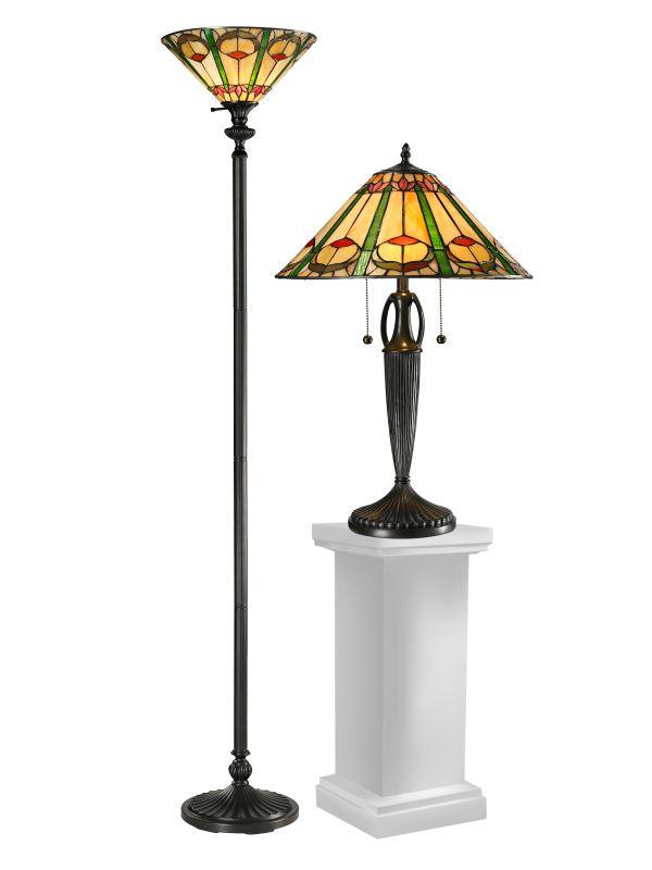 Dale Tiffany TC12340 Quill 3 Light Lamp Set Antique Bronze Lamps Table Sale $489.99 ITEM: bci2281147 ID#:TC12340 UPC: 20258118272 :