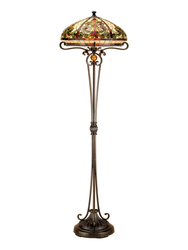 "Dale Tiffany TF101116 18"" x 62"" Boehme Floor Lamp from the Boehme"