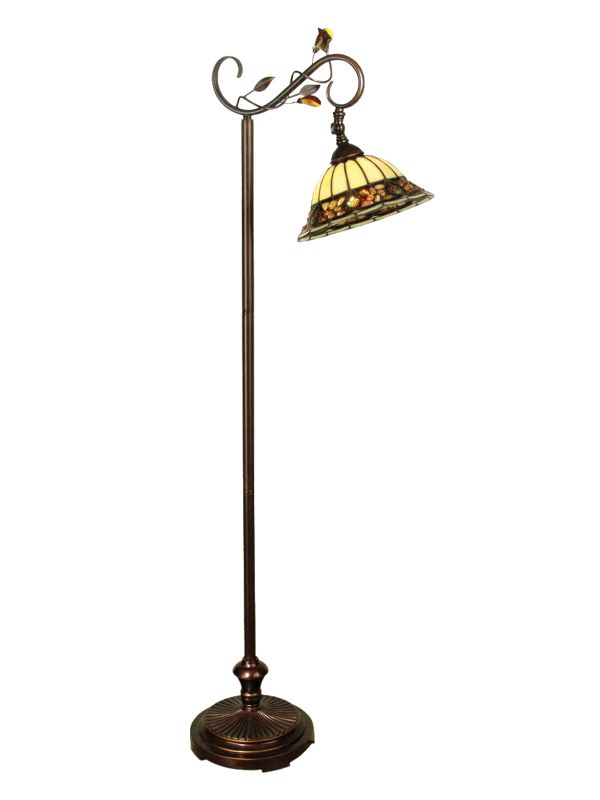 "Dale Tiffany TF90219 20.5"" x 60"" Pebblestone Floor Lamp Antique Golden"