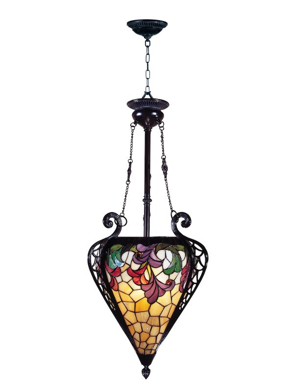 Foyer Lighting Tiffany Style : Dale tiffany th mica bronze quot single