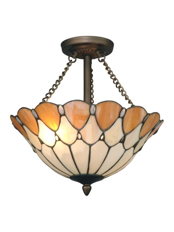 Dale Tiffany TH11202 Scalloped Jeweled Flush Mount Ceiling Fixture