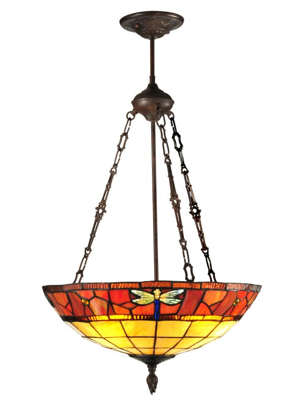 Dale Tiffany TH12230 Genoa 3 Light Full Sized Pendant Antique Bronze