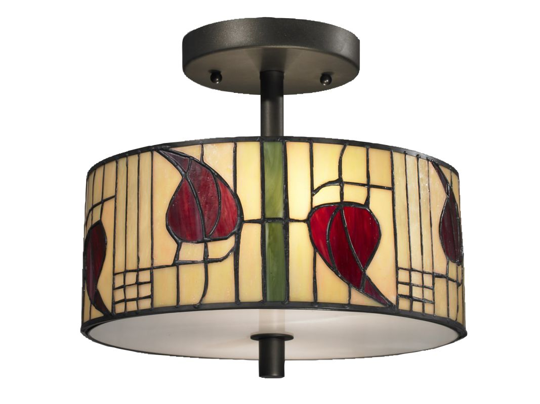 Dale Tiffany TH12322 Macintosh 2 Light Flush Mount Ceiling Fixture