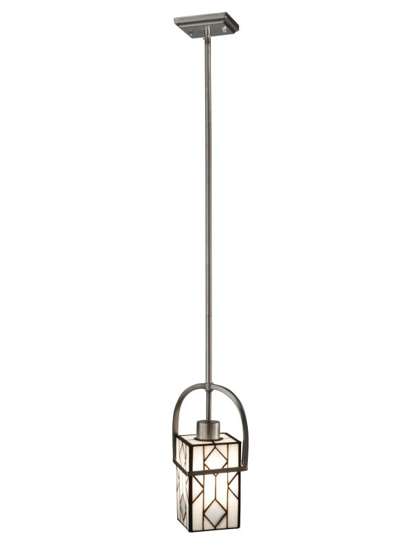 Dale Tiffany TH12395 Rossano 1 Light Mini Pendant Brushed Nickel