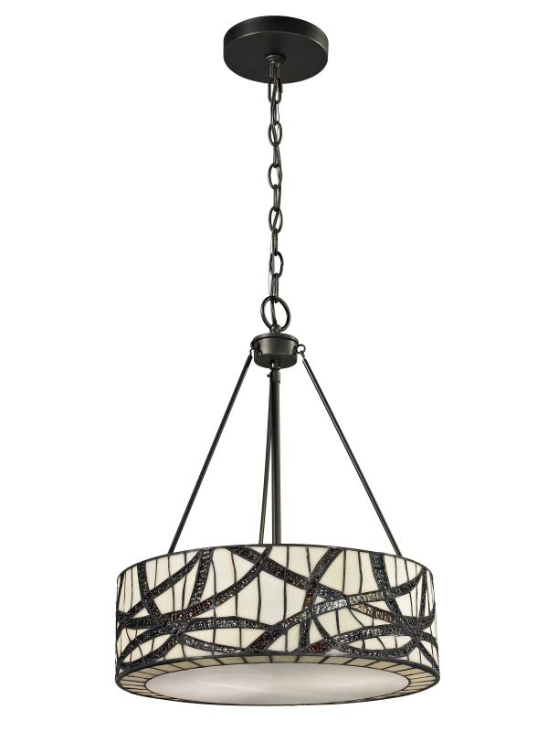Dale Tiffany TH12418 Willow Cottage 2 Light Full Sized Pendant Dark