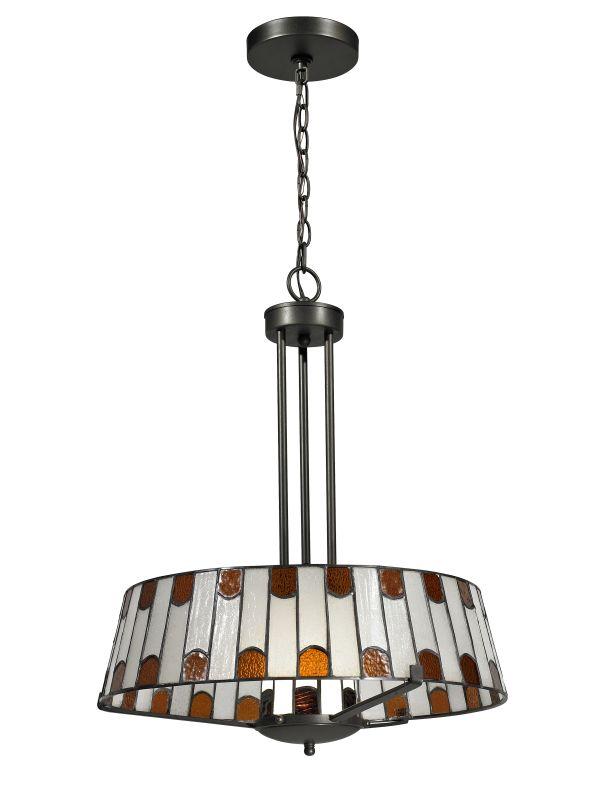 Dale Tiffany TH12421 Wedgewood 1 Light Full Sized Pendant Dark Bronze