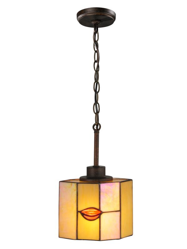 Dale Tiffany TH12447 Fantom Leaf 1 Light Mini Pendant Rustic Bronze