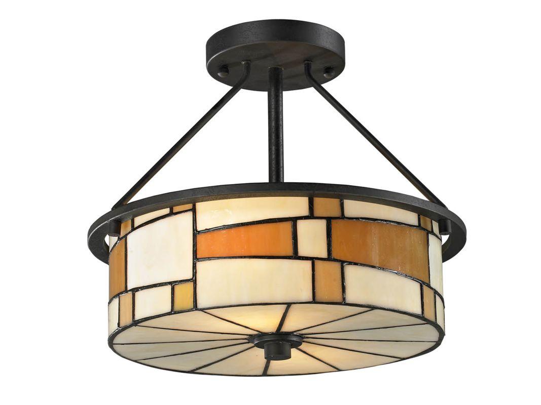 Dale Tiffany TH12462 Portola 2 Light Flush Mount Ceiling Fixture Matte