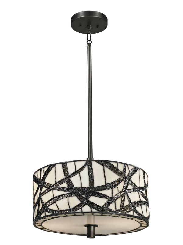 Dale Tiffany TH13013 Willow Cottage 2 Light Full Sized Pendant Dark