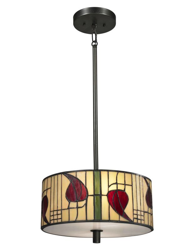Dale Tiffany TH13014 Mackintosh 2 Light Full Sized Pendant Dark Bronze Sale $197.99 ITEM: bci2281207 ID#:TH13014 UPC: 20258120374 :