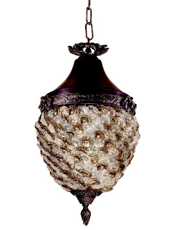 Dale Tiffany TH13053 Glass Flower 1 Light Full Sized Pendant Antique