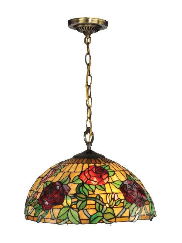 Dale Tiffany TH13112 Rosewood Tiffany 1 Light Full Sized Pendant