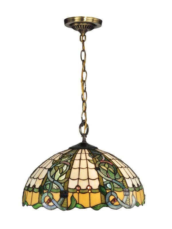Dale Tiffany TH13113 Asure Tiffany 3 Light Full Sized Pendant Antique