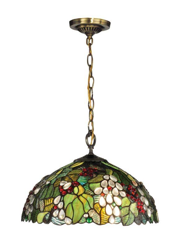 Dale Tiffany TH13114 Paloma Tiffany 1 Light Full Sized Pendant Antique