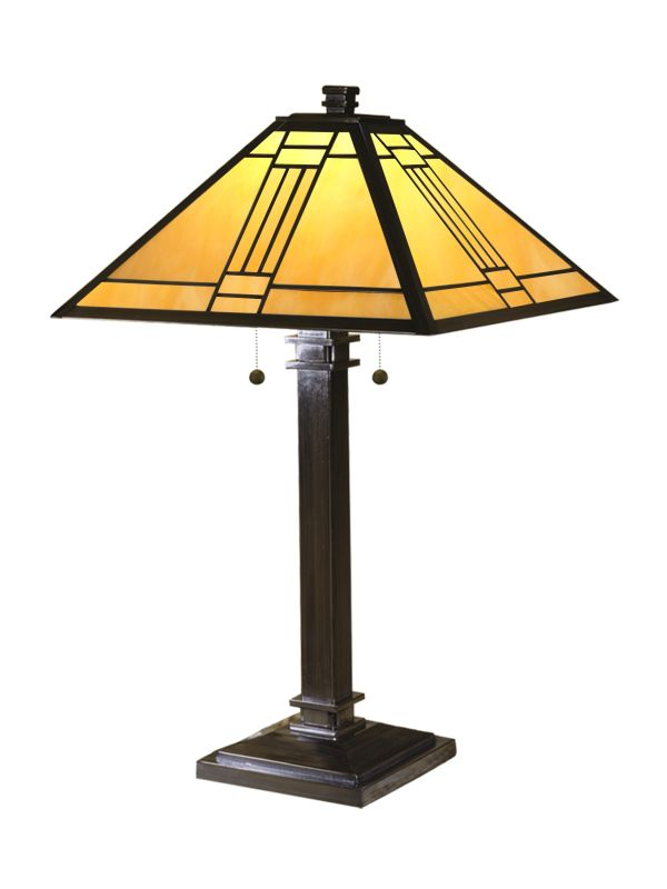 "Dale Tiffany TT100015 16"" x 26"" Noir Mission Table Lamp from the Noir"