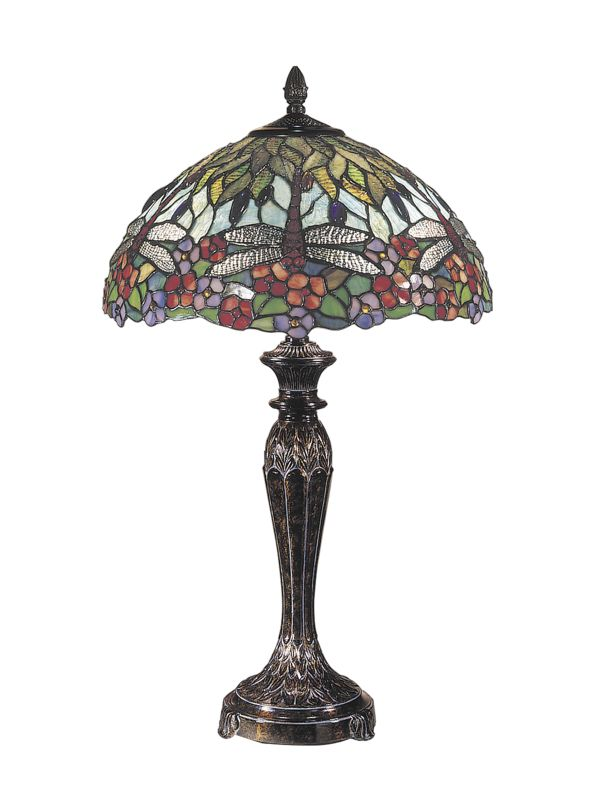 "Dale Tiffany TT100588 29"" Tiffany Table Lamp with 2 Lights Fieldstone"